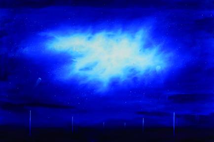 3-Medusa y nebulosas-2014-cm100x150-olio su tela copia